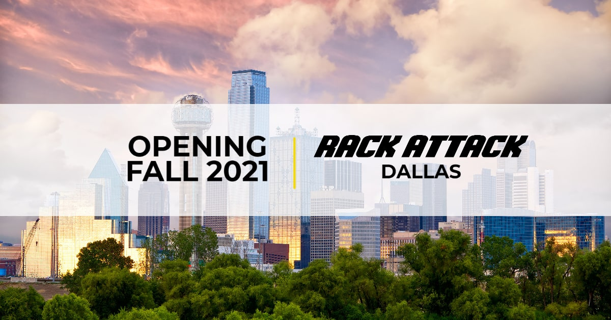 Dallas skyline with rack attack opening fall 2021
