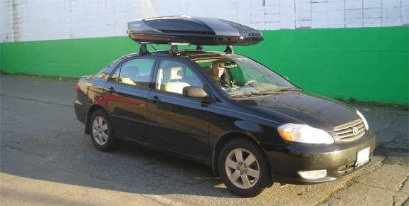 This Is A Custom 2004 Toyota Corolla 4dr Cargo Box/cargo Carrier Roof Rack  System.