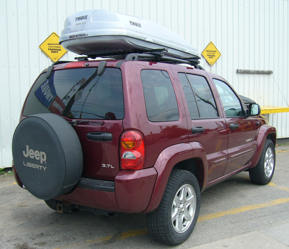 Elegant This Is A Custom 2005 Jeep Liberty Cargo Box/cargo Carrier Roof Rack System