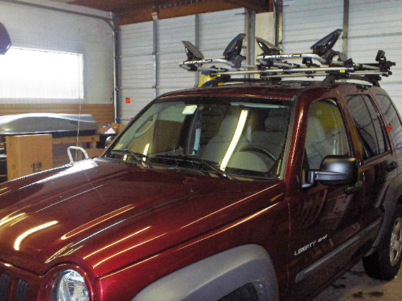 Jeep Liberty Rack Installation Photos