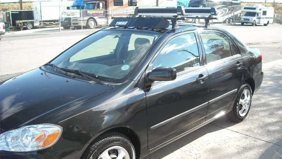 High Quality This Is A Custom 2005 Toyota Corolla 4dr Ski U0026 Snowboard Roof Rack System.