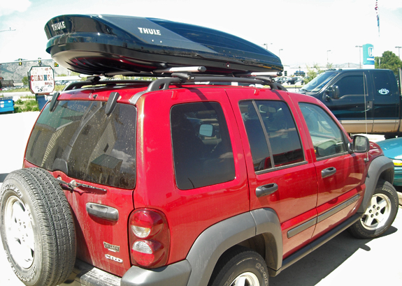 Amazing This Is A Custom 2007 Jeep Liberty Cargo Box/cargo Carrier Roof Rack System