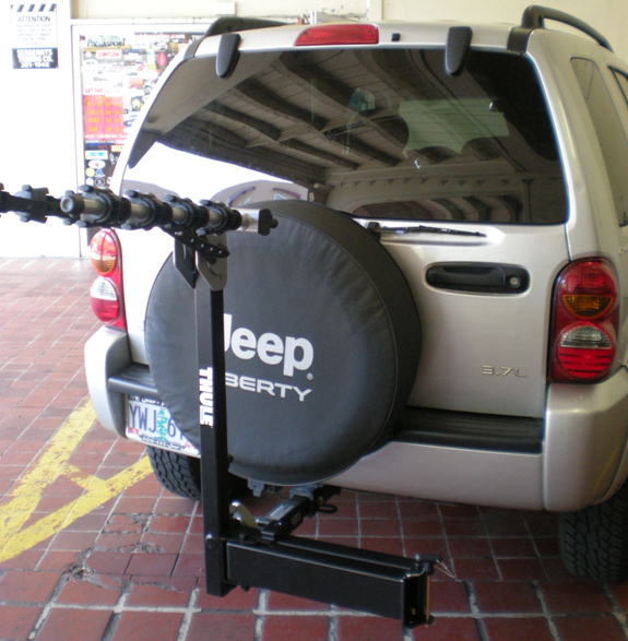 This Is A Custom 2007 Jeep Liberty Hitch Mount Bike Rack System (Rack  Attack Vancouver)