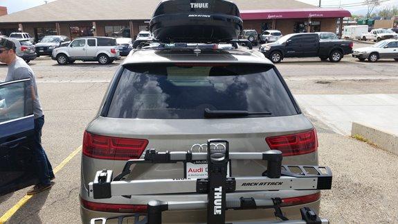 Audi Q7 Rack Installation Photos