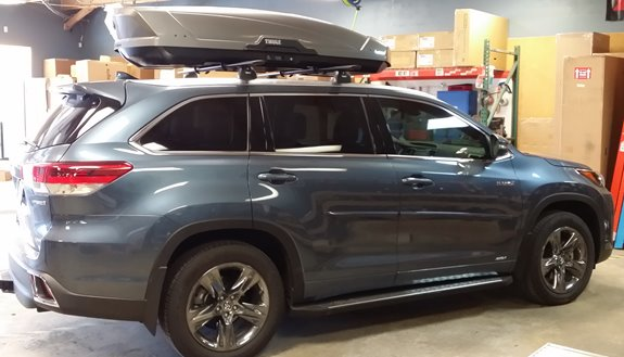 Toyota Highlander Rack Installation Photos