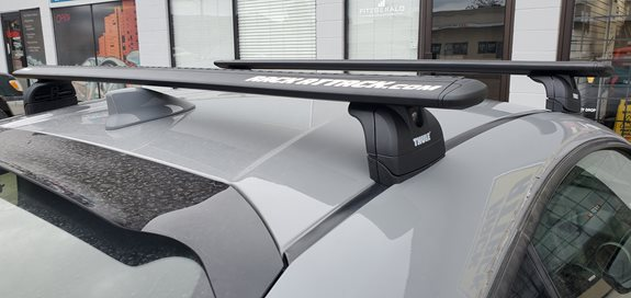 Toyota 86 Custom ditch mount from Rhino Rack with Thule Kit 3068 And Wingbar Black. Mount front bar 4inch from base pad to windshield. Mount rear bar 7Inch from base pad to rear windshield.