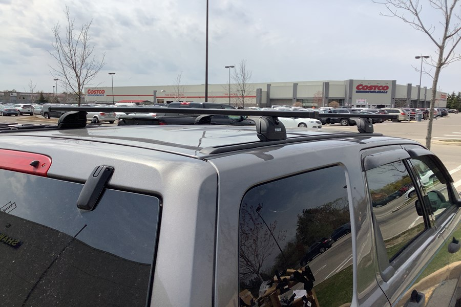 Ford Escape Base Roof Rack Systems installation