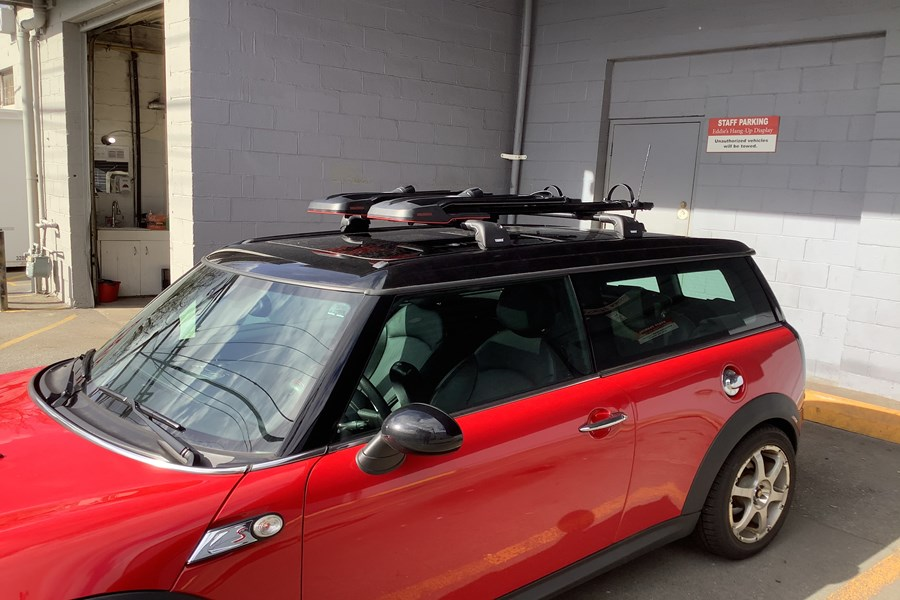 Mini Clubman 4dr Bike Racks installation