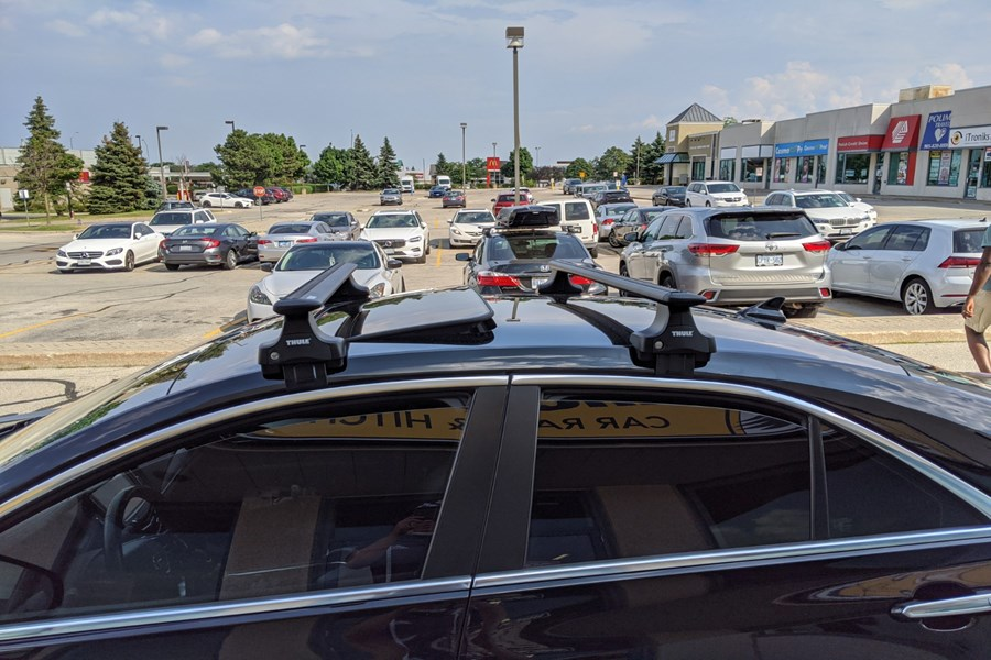 Cadillac ATS 4DR Base Roof Rack Systems installation