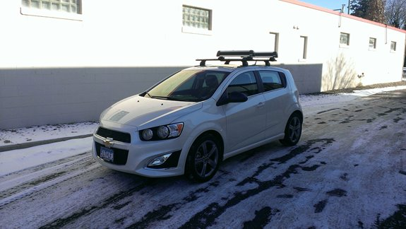 Chevrolet Sonic 5dr Rack Installation Photos