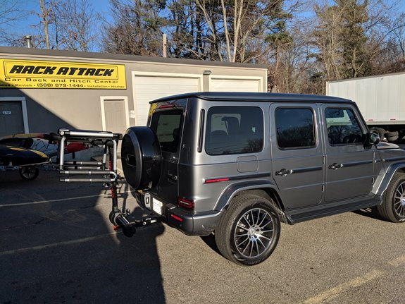 Mercedes Benz G Class Rack Installation Photos