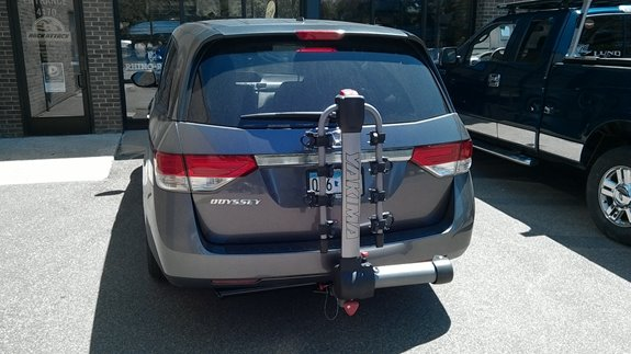 This Is A 2006 Honda Odyssey Bike Hitch And Roof Rack System