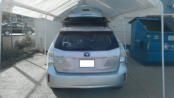 Toyota Prius V Rack Installation Photos