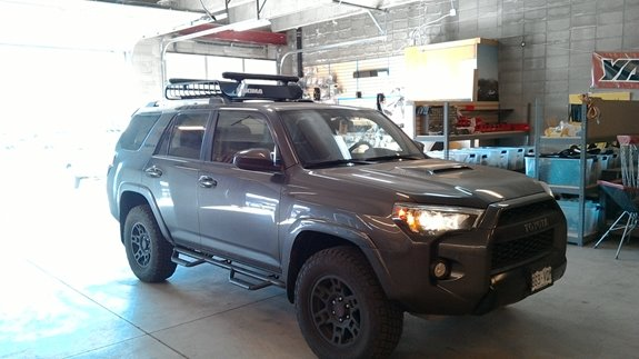 This 2016 Toyota 4runner Was Set Up With A Cargo Basket Ski Snowboard Rack On Top