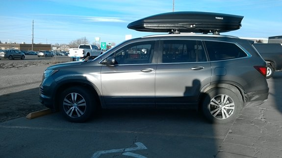 Delightful The New 2016 Honda Pilot Has A Great Factory Flush Side Rail That The Thule  Rapid Podium Base Rack And Sonic XXL Cargo Box Work Very Well On!