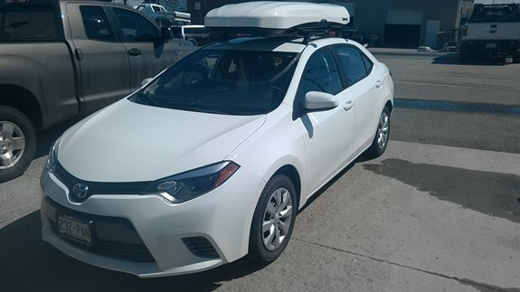 Amazing If Your Car Gets 35+ MPG And You Want To Keep Things Low Profile, This  Might Be The Set Up For You! We Custom Mounted Thule Roof Tracks On This  Corolla And ...