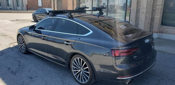 Audi A5 5dr Water Sport Racks installation
