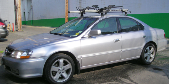Attractive This Is A Custom 2002 Acura TL Bike Roof Rack System