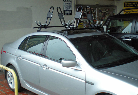 This Is A Custom 2008 Acura TL Kayak Roof Rack System