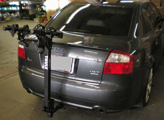 audi a4 4dr rack installation photos rh rackattack com Audi A4 1.8L Turbo Horsepower 2003 Audi A4 Tiptronic