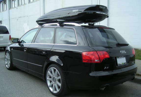 This Is A Custom 2008 Audi A4 Avant Cargo Box/cargo Carrier Roof Rack System