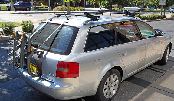 This Is A Custom 2004 Audi A6 Avant Trunk Mount Bike Rack And Kayak Roof  Rack System