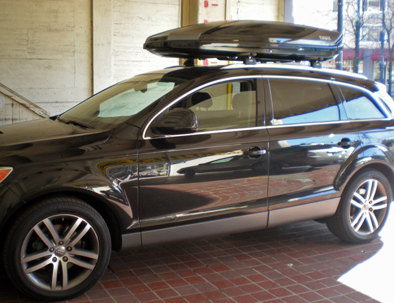 Wonderful This Is A Custom 2009 Audi Q7 Cargo Box/cargo Carrier Roof Rack System
