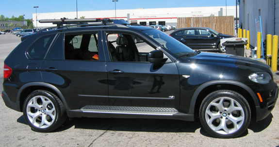 This Is A Custom 2007 BMW X5 Bike Roof Rack System