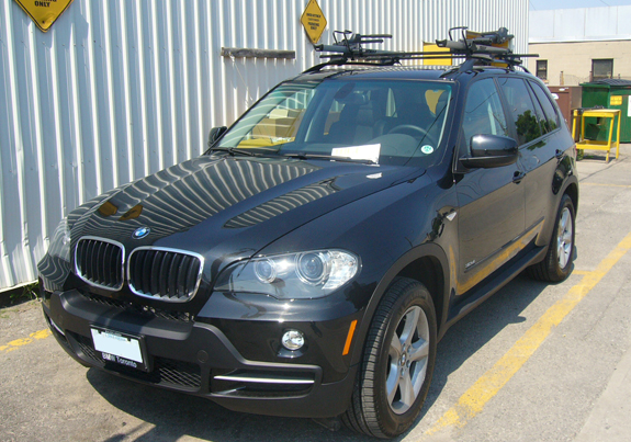 This Is A Custom 2008 BMW X5 Bike Roof Rack System