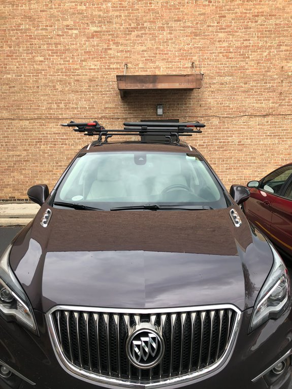 We installed this crossbar system. kayak rack, and SUP rack on this 2018 Buick Envision.