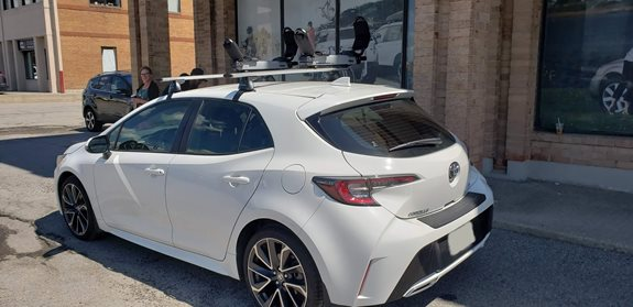 Toyota Corolla 5DR Water Sport Racks installation