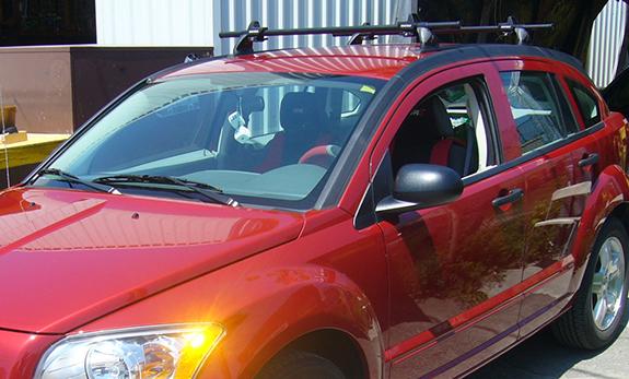 Dodge Caliber Rack Installation Photos