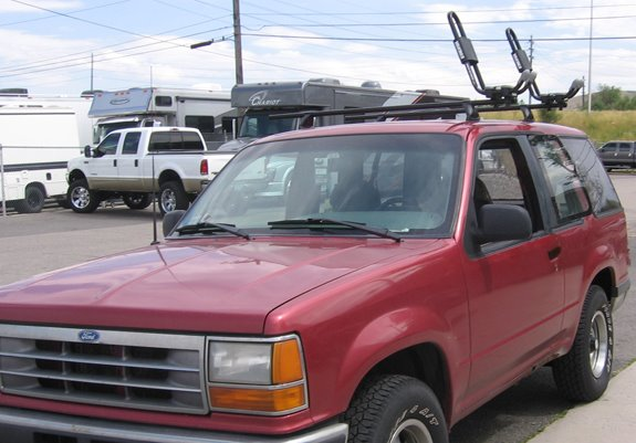 Ford explorer 4dr rack installation photos this is a custom 1993 ford explorer 2dr kayak roof rack system sciox Image collections