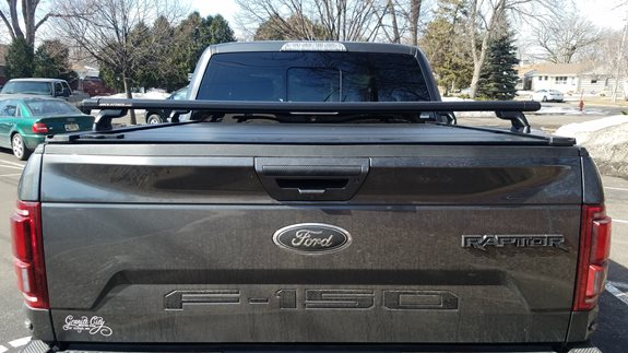 This 2019 Ford F150 Raptor is made even more adventure ready with a ReTrax XR tonneau cover and Yakima HD Bar Base Rack. The quick connection of the Yakima SkyLine Towers offers a great baserack solution that can be easily removed for full access to the truck bed.