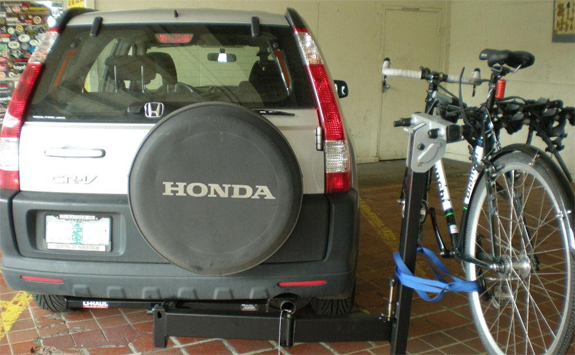 Awesome This Is A Custom 2004 Honda CRV Hitch Mount Bike Rack System (Rack Attack  Vancouver)