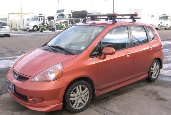 This Is A Custom 2007 Honda Fit Ski U0026 Snowboard Roof Rack System (Rack  Attack Vancouver)