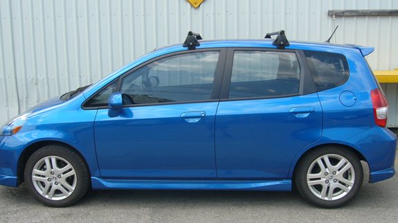 This Is A Custom 2008 Honda Fit Roof Rack System (Rack Attack Vancouver)