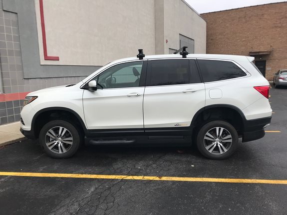 Honda Pilot Base Roof Rack Systems installation