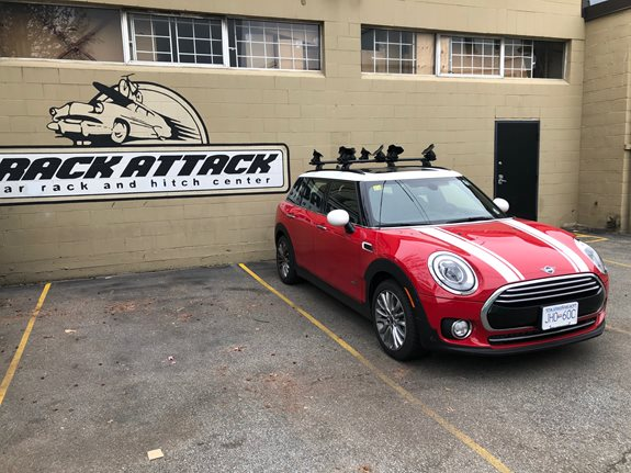Mini Clubman 4dr Water Sport Racks installation