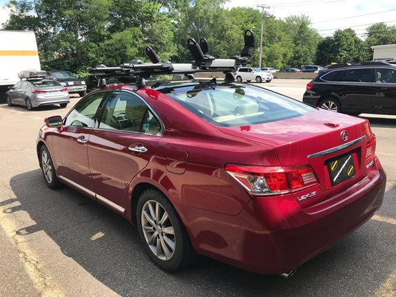 Lexus ES350 Base Roof Rack Systems installation