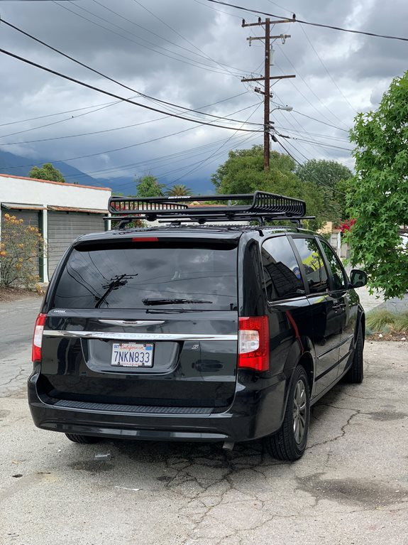 Chrysler Town & Country dual door Base Roof Rack Systems installation