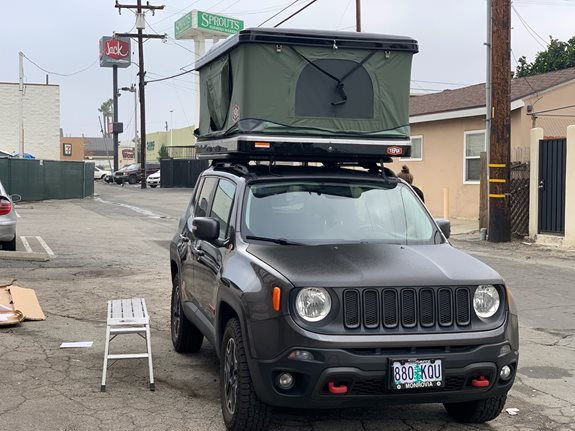 Jeep Renegade Camping installation