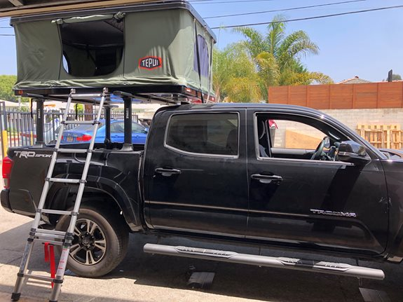 Thule Xsporter Pro and Evo Clamp System - 2017 Toyota Tacoma - Bare Roof