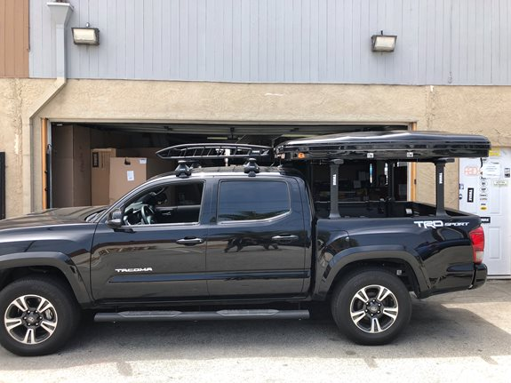 Toyota Tacoma Double/Quad Cab Base Roof Rack Systems installation