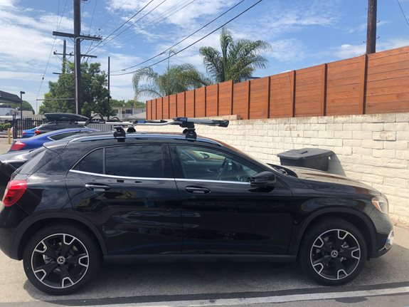 Mercedes Benz GLA Class  Base Roof Rack Systems installation