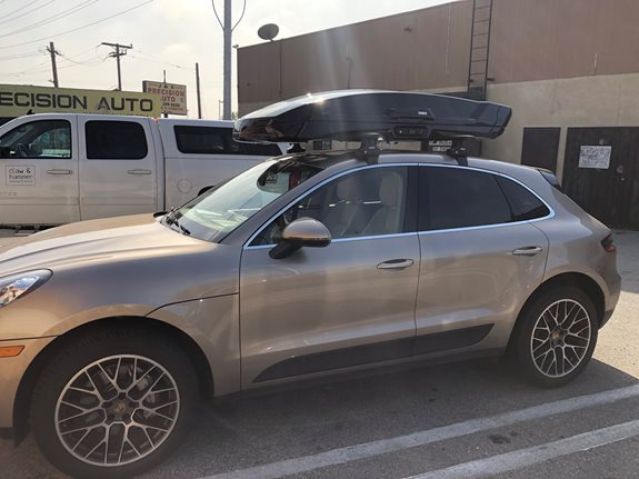 Porsche Macan Base Roof Rack Systems installation