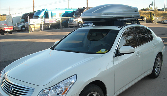 Infiniti G35 Sedan Cargo & Luggage Racks installation