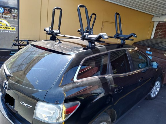 Mazda CX-7 Base Roof Rack Systems installation