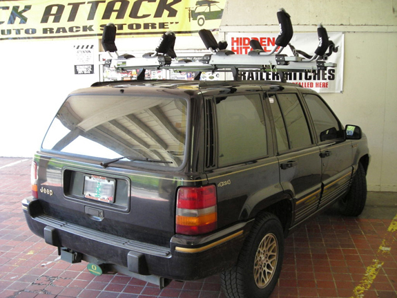 This Is A Custom 1998 Jeep Grand Cherokee Kayak Roof Rack System