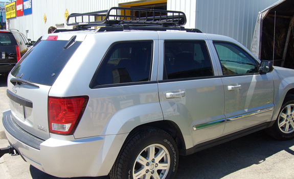 This Is A Custom 2010 Jeep Grand Cherokee Cargo Basket Roof Rack System